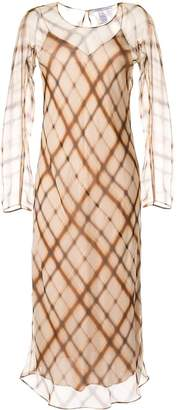Agnona check print dress