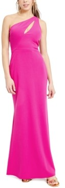 Bebe Juniors' One-Shoulder Cutout Gown