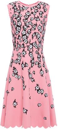Carolina Herrera Scalloped Floral-jacquard Dress