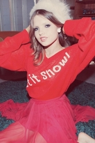 Wildfox Couture Let It Snow V-Neck Sweater in Holiday