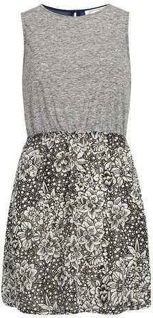 Dorothy Perkins Grey floral contrast tunic