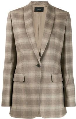 Frenken Checked Suit Jacket