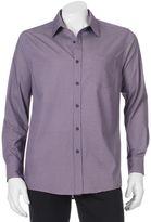 Haggar Men's Micro-Graphic Print Button-Down Shirt