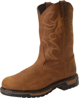 Rocky Men's Original Ride Steel Toe Brown Work Boot