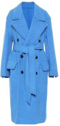 AMI Paris Belted wool coat