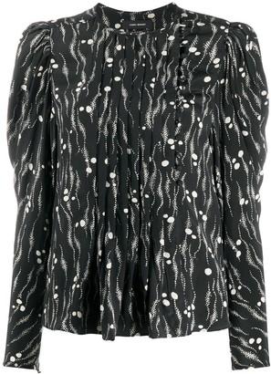 Isabel Marant Abstract-Print Silk Top