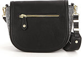 Gianni Bini Big Zip Cross-Body Bag with Guitar Strap