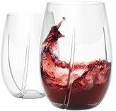 HOST WHIRL Aerating Wine Glasses, Set of 2