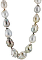 Linda Lee Johnson Women's Baroque Pearl Necklace