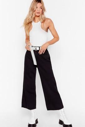 Nasty Gal Womens What's the Big Idea Wide-Leg Denim Jeans - Black - 6