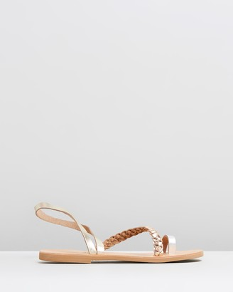 Ammos - Women's Silver Strappy sandals - Alcyone Sandals - Size One Size, 37 at The Iconic