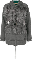 No.21 feathers cardi-coat - women - Cotton/Viscose/Ostrich Feather - 38