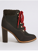 M&S Collection Block Heel Side Zip Ankle Boots