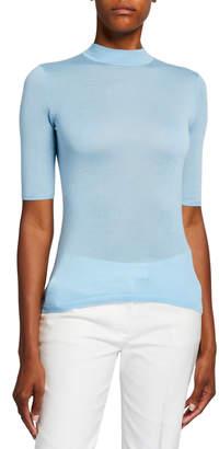 Gabriela Hearst Hugo Cashmere-Silk 1/2-Sleeve Sweater