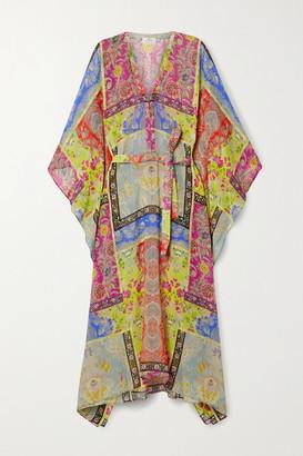 Etro Burguete Printed Silk-georgette Kaftan - Multi