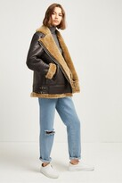 French Connection Night Toscana Shearling Jacket