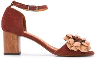 Chie Mihara 65mm Floral Applique Sandals