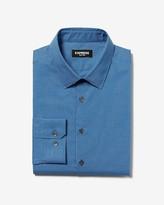 Express Extra Slim Check Print Cotton Dress Shirt
