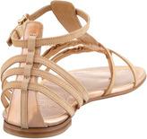 Stuart Weitzman Specchio Buckled Thong Sandal, Rose