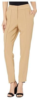 Vince Camuto Bi-Stretch Crepe Pin Tuck Skinny Pants (Latte) Women's Casual Pants