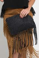 Muche et Muchette Cut-Out Fringe Clutch