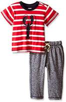 Hatley Baby Boys 0-24m Infant Tee & Track Pant Lobsters Clothing Set