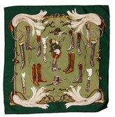Hermes A Propos de Bottes Silk Pocket Square