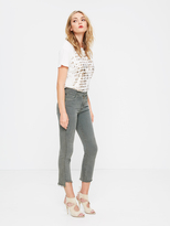 Mother Insider Crop Step Fray - Pretty Just Strolled In The City - Faded Army