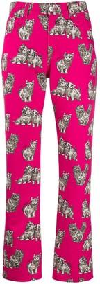 MSGM Cat Print Jeans