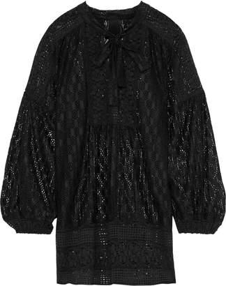 Anna Sui Tie-neck Lace Tunic