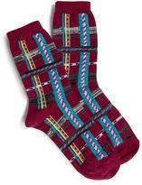 Vera Bradley Geo Plaid Socks
