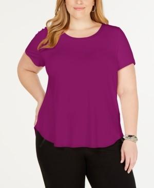 Alfani Plus Size Short-Sleeve T-Shirt, Created for Macy's
