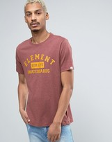 Element Logo Skateboard T-Shirt in Red Heather