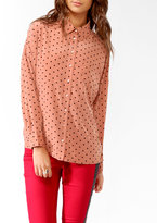 Forever 21 Oversized Polka Dot Shirt