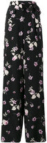 Valentino wide leg floral print trousers