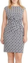 Lauren Ralph Lauren Plus Size Women's Geo Twist Front Jersey Dress