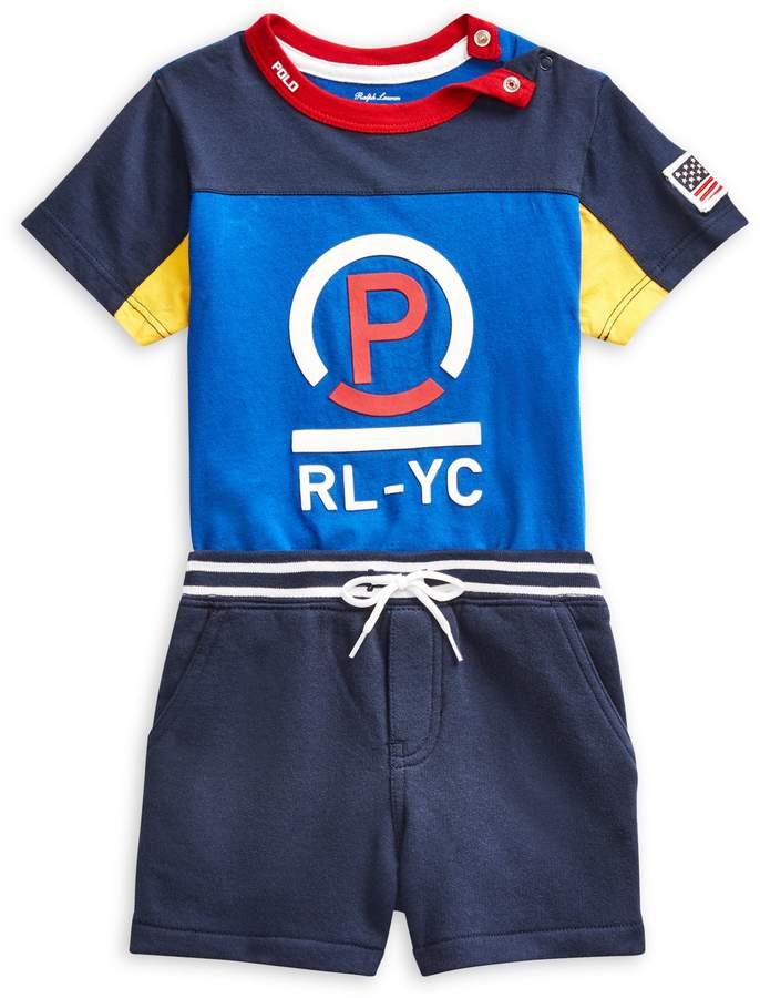 0822e8ecb Ralph Lauren Childrenswear Baby Boy's 2-Piece Logo Cotton Tee Shorts Set