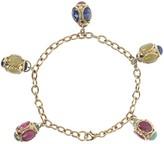 "Arte D'oro Arte d'Oro 7-1/2"" Multi-Gemstone Charm Bracelet, 18K"