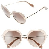 Miu Miu Women's 52Mm Round Sunglasses - Black