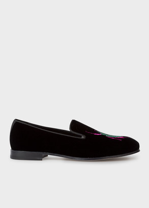 Paul Smith Women's Black Velvet 'African Beetle' Embroidered 'Dryden' Loafers
