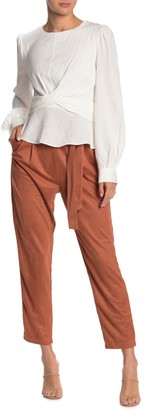 Do & Be Faux Suede High Waisted Straight Leg Pants