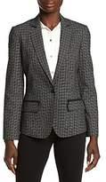 Jones New York Women's Small Grid Check Jacket