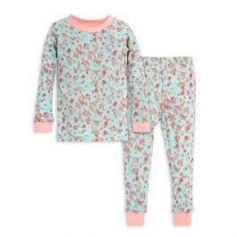 Burt's Bees Ditsy Floral Organic Cotton Toddler Snug Fit Pajamas
