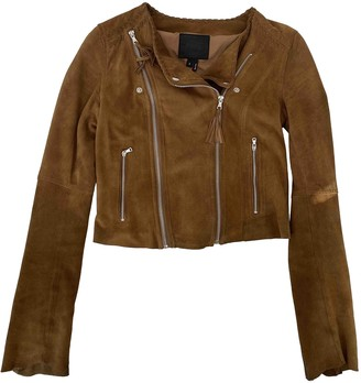 Paige Camel Leather Leather Jacket for Women