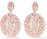 Aurelie Bidermann Lace Rose Gold-plated Earrings - one size