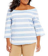 Westbound Plus Pullover 3/4 Sleeve Peasant