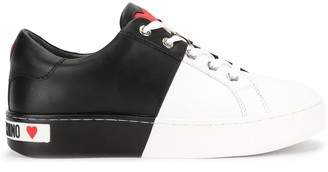 Love Moschino Half Dipped Bi-Colour Sneakers