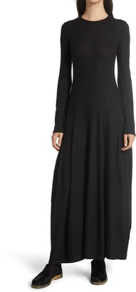 The Row Arabella Long Sleeve Stretch Cashmere Sweater Dress