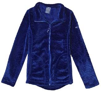 Roxy Kids Igloo Technical Zip-Up Hooded Fleece (Big Kids) (Mazarine Blue) Girl's Jacket