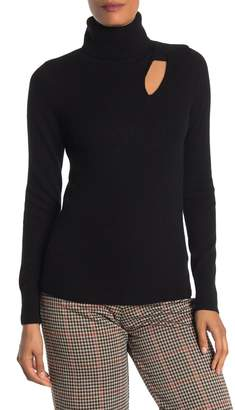 Catherine Malandrino Cutout Cashmere Turtleneck Sweater